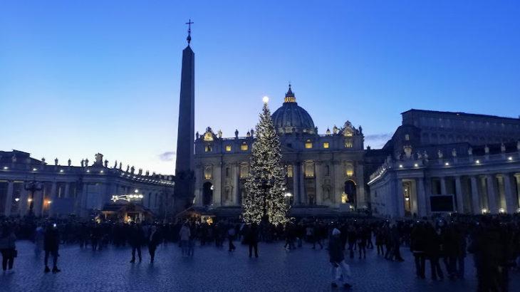バチカン大聖堂のクリスマスミサ2019!サンピエトロ広場でフランシスコ法王に会える?
